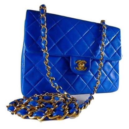 Image of Chanel mini square bag royal blue