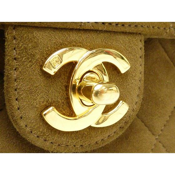 Picture of Chanel mini brown suede bag
