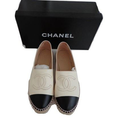 Image of Chanel beige lambleather espadrilles
