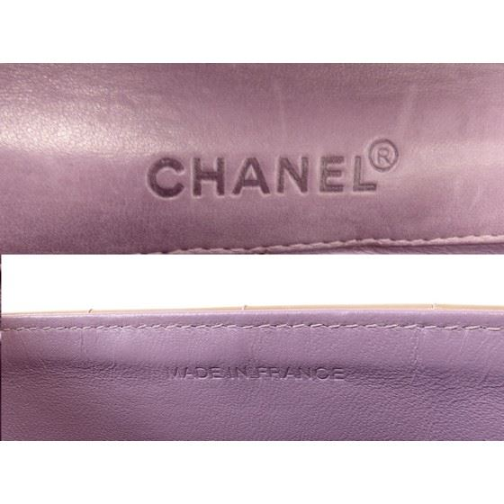 Picture of Chanel patent leather chocolate bar bag