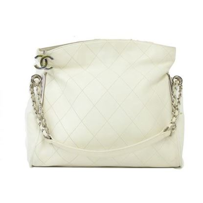 Chanel white calf tote