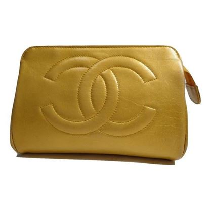 Image of Chanel gold pouch