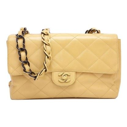 Image of Chanel beige calfskin bag