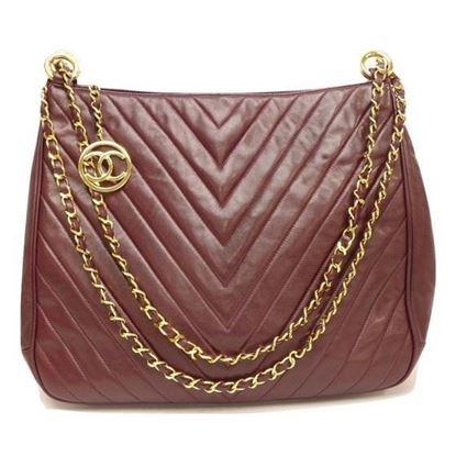 Image of Chanel Chevron 2 way shoulder crossbody tote bag