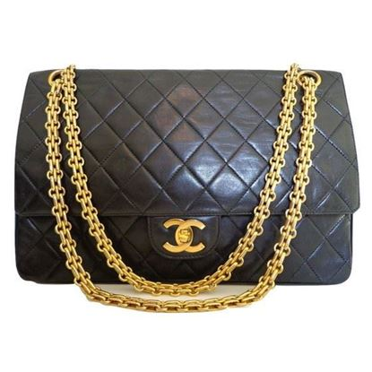 Chanel medium 2.55 double flap bag with mademoiselle chain