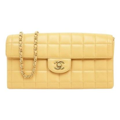 "Image of Chanel beige ""Chocolate bar"" bag"