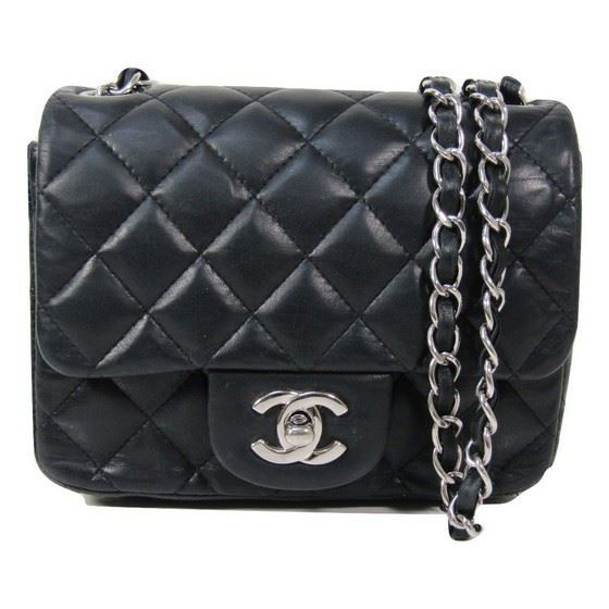 3e5a0edd485f Vintage and Musthaves. Chanel 2.55 classic square mini with silver ...