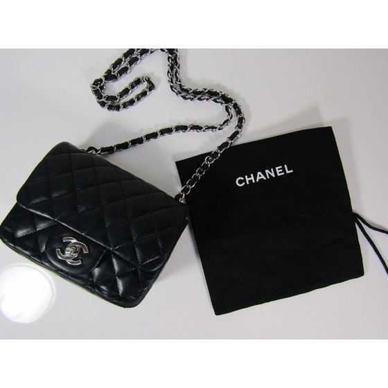 7e27c4da3b1b Vintage and Musthaves. Chanel 2.55 classic square mini with silver ...
