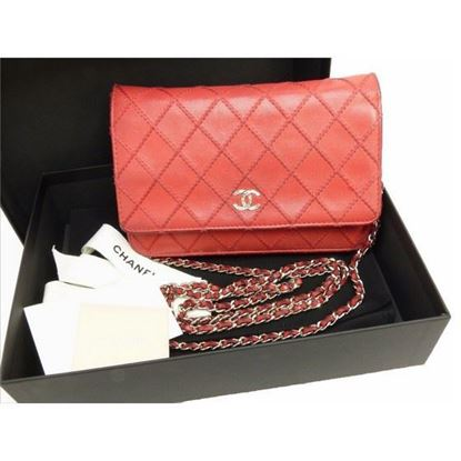 Chanel red WOC, Wallet on Chain bag