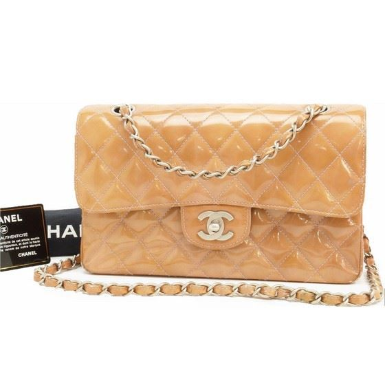 a5d25a0e6c68 Picture of Chanel 2.55 bronze patent leather timeless double flap bag