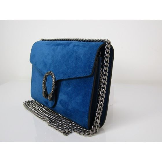 Picture of Gucci Dionysus blue suede bag