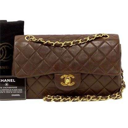 Chanel dark brown timeless 2.55 double flap bag