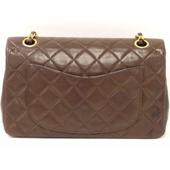 Picture of Chanel dark brown timeless 2.55 double flap bag