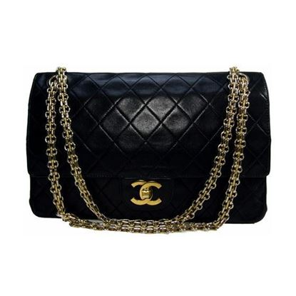 Image of Chanel medium 2.55 double flap bag with mademoiselle chain