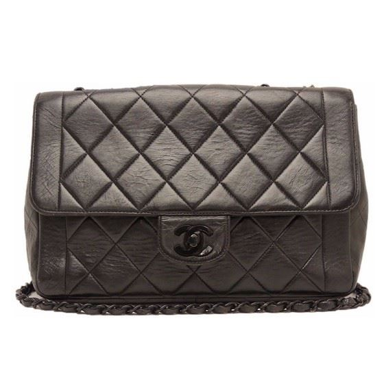 Picture of Chanel so black double chain crossbody bag