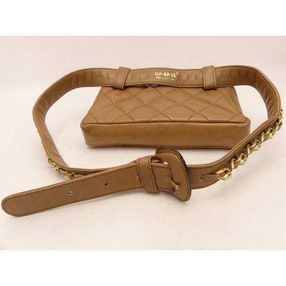 Picture of CHANEL camel Lamb Skin  Waist Pouch Belt