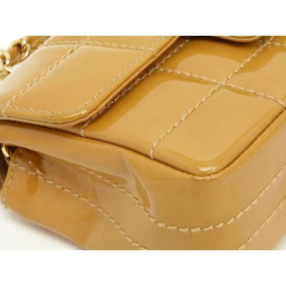 1108076e50f9 Vintage and Musthaves. Chanel caramel patent leather crossbody bag