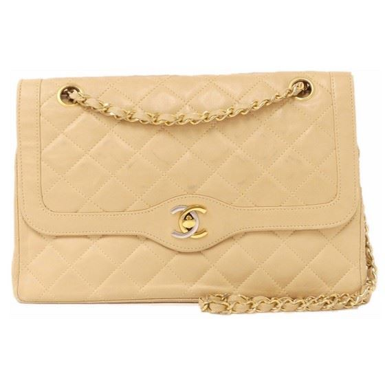 e1b08f6e4dbc Picture of Chanel beige medium double flap bag