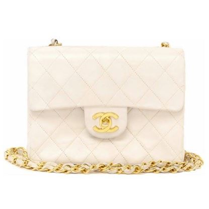 Image of Chanel timeless 2.55 white square mini bag