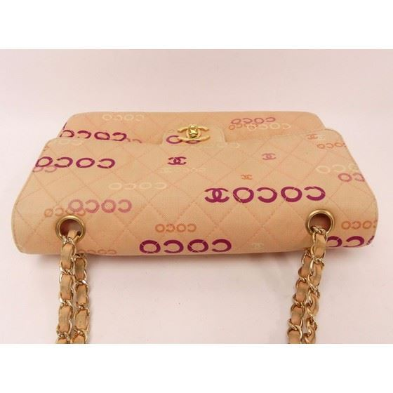 Picture of Chanel coco print twill medium double flap bag
