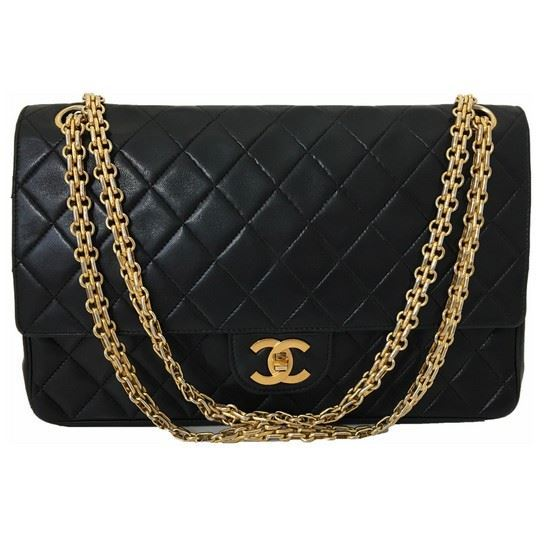 vintage and musthaves chanel medium double flap bag with mademoiselle chain. Black Bedroom Furniture Sets. Home Design Ideas