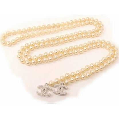 CHANEL Pearl with Coco Charm Long Lariat Necklace