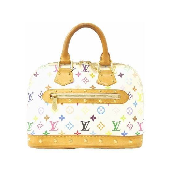 Picture of Louis Vuitton Alma multicolor white bag