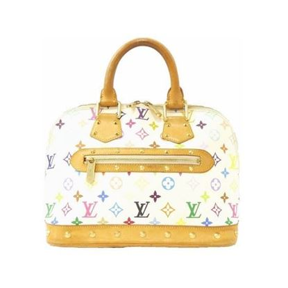 Image of Louis Vuitton Alma multicolor white bag