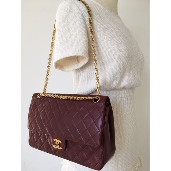 Picture of Chanel bordeaux medium 2.55 double flap bag with mademoiselle chain