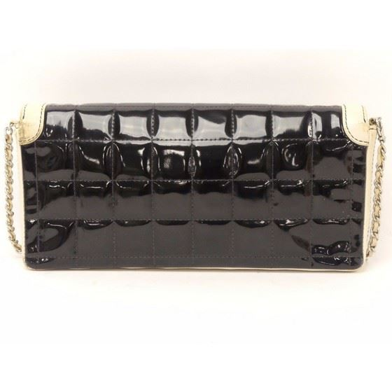 Picture of Chanel black and white patent chocolate bar