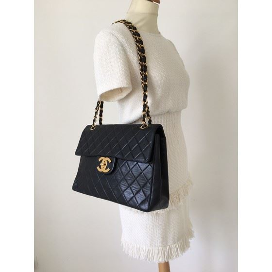 Picture of Chanel 2.55 timeless maxi flap bag