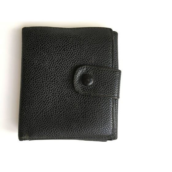 Picture of Chanel black caviar cc french bifold wallet