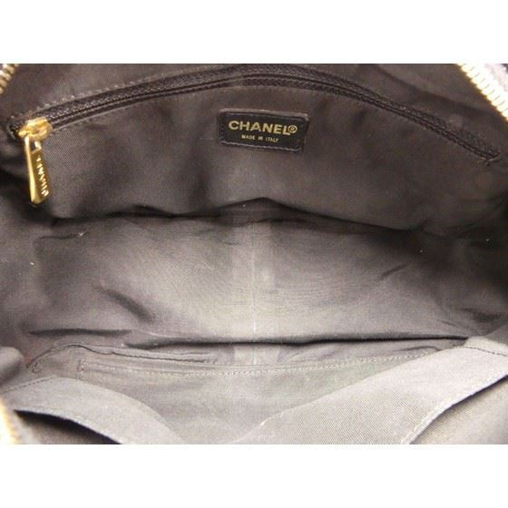 Picture of Chanel black caviar skin grand hand bag shopper