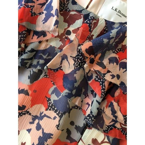 Picture of L.K. Bennett Kayla Floral Silk Dress