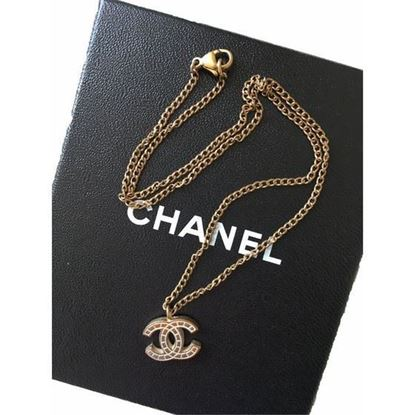 Image of Chanel cc gold necklace