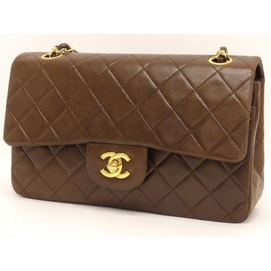 Vintage and Musthaves. Chanel medium 2.55 brown double ...