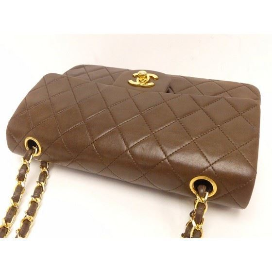 Picture of Chanel medium 2.55 brown double flap bag