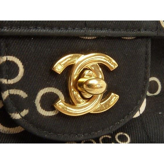 Picture of CHANEL Black COCO Canvas East West  Bag