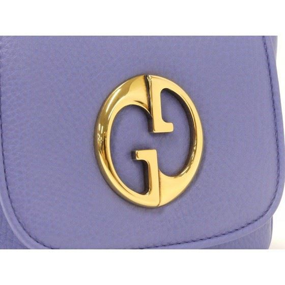 Picture of Gucci blue soho 1973 disco crossbody bag