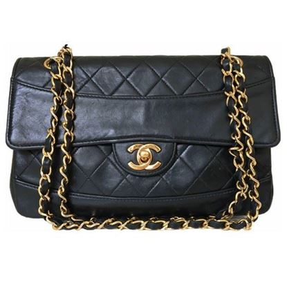Image of Chanel classic double chain flap bag