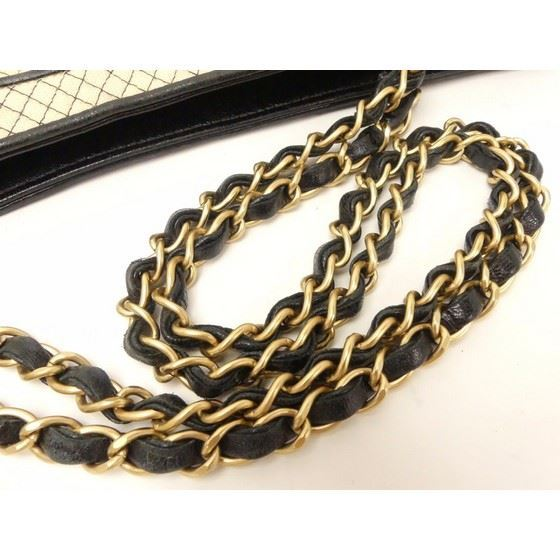 Picture of Special piece: Chanel bicolor jersey/lambskin double chain bag