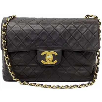 Image of Chanel 2.55 timeless maxi flap bag