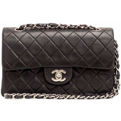 Image of Chanel 2.55 timeless double flap bag with silver hardware