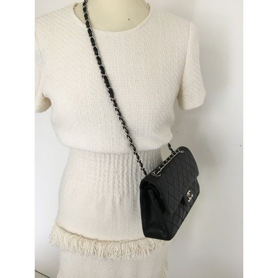 Picture of Chanel 2.55 timeless double flap bag with silver hardware