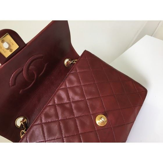 Picture of Chanel small timeless 2.55 square bag burgundy