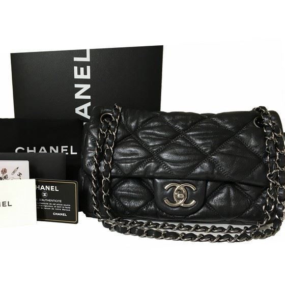 4b0c38fa6539 Vintage and Musthaves. Chanel black bubble Quilted Lambskin Leather ...