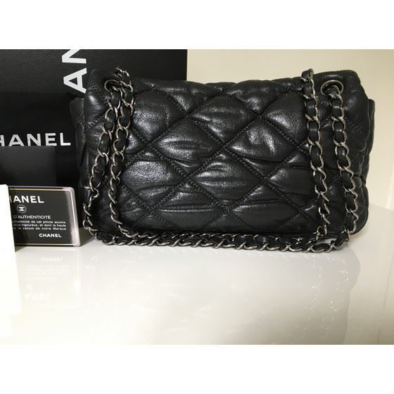 Picture of Chanel black bubble Quilted Lambskin Leather Flap Bag