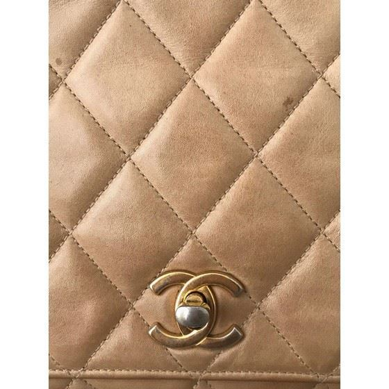 Picture of Chanel beige/camel timeless 2.55 crossbody bag