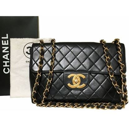 Image of Chanel 2.55 classic timeless jumbo bag