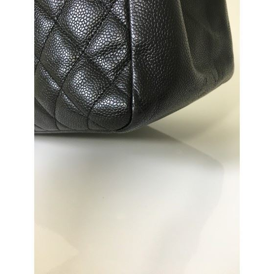 Picture of CHANEL Grand Shoulder shopper hand Bag in black caviar leather